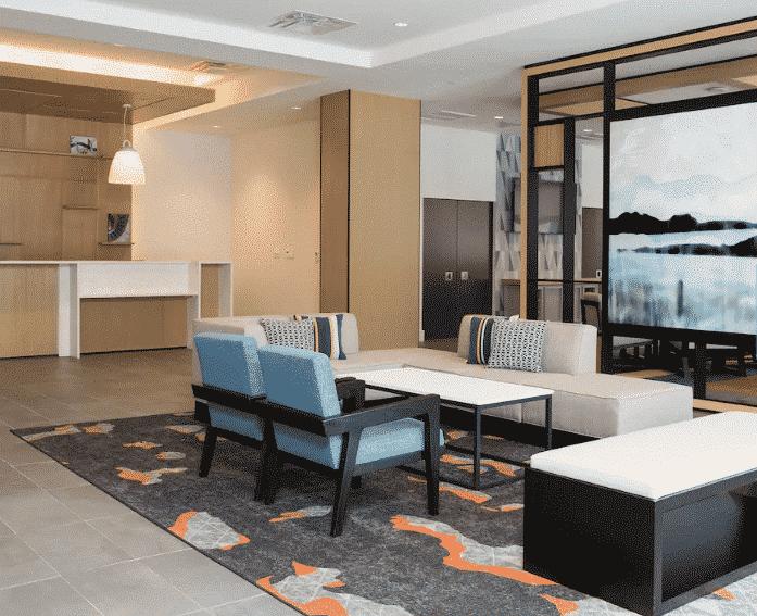 Austin Hyatt Hotel lounge area