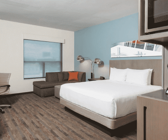 Austin Hyatt Hotel bedrooom
