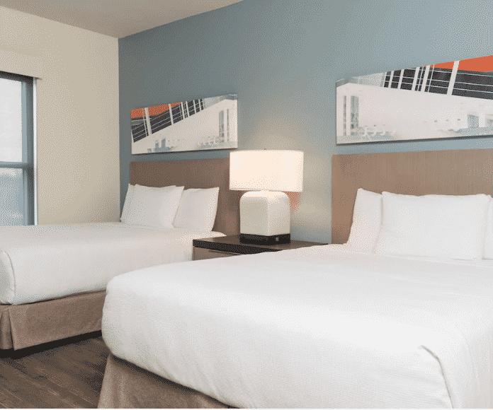 Austin Hyatt Hotel two queen bedroom