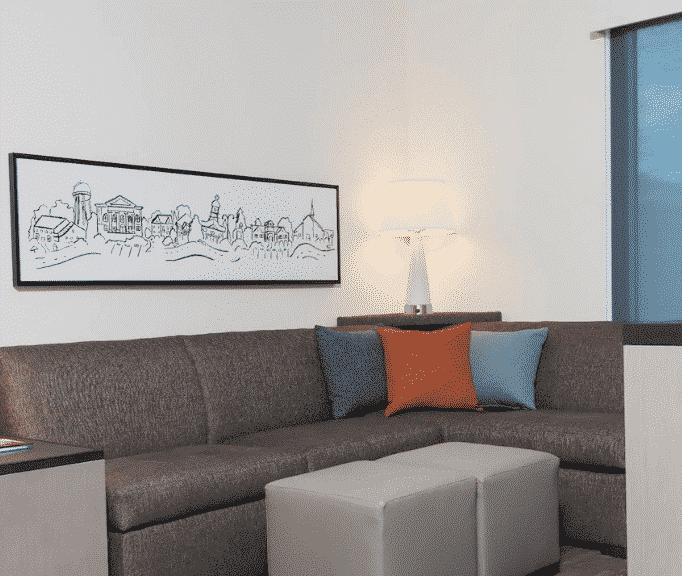 Austin Hyatt Hotel Couch
