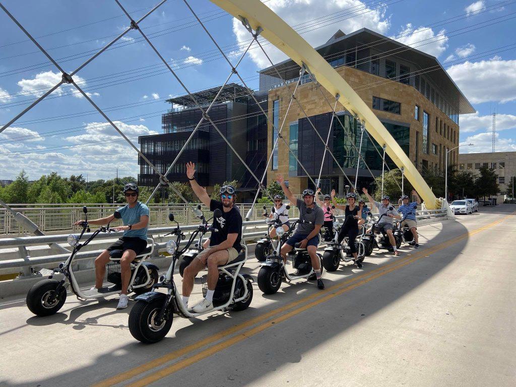 Biker Gang on Bridge