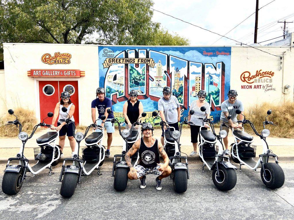 Biker Gang In Front Of Design