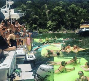 party at lake travi