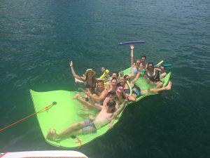 Yacht floats