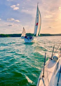 Multiple sail boats