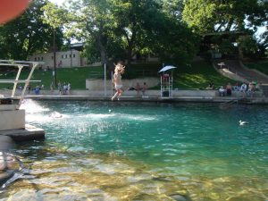 Barton Spring Diving Board