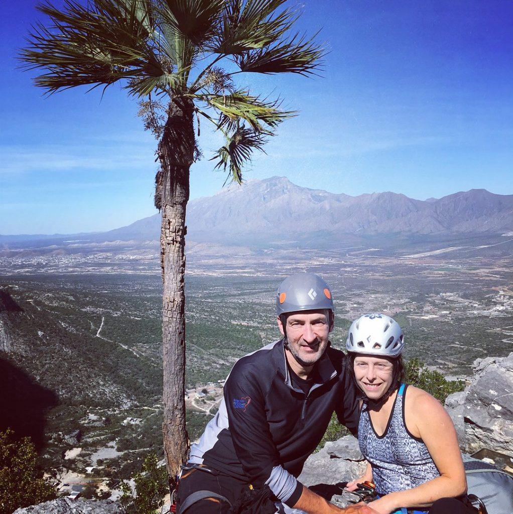 Austin rock Climbing couple