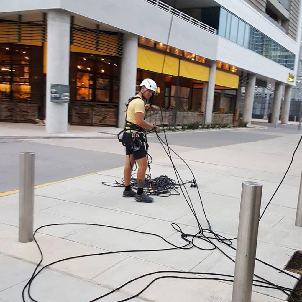 Austin rock Climbing ropes