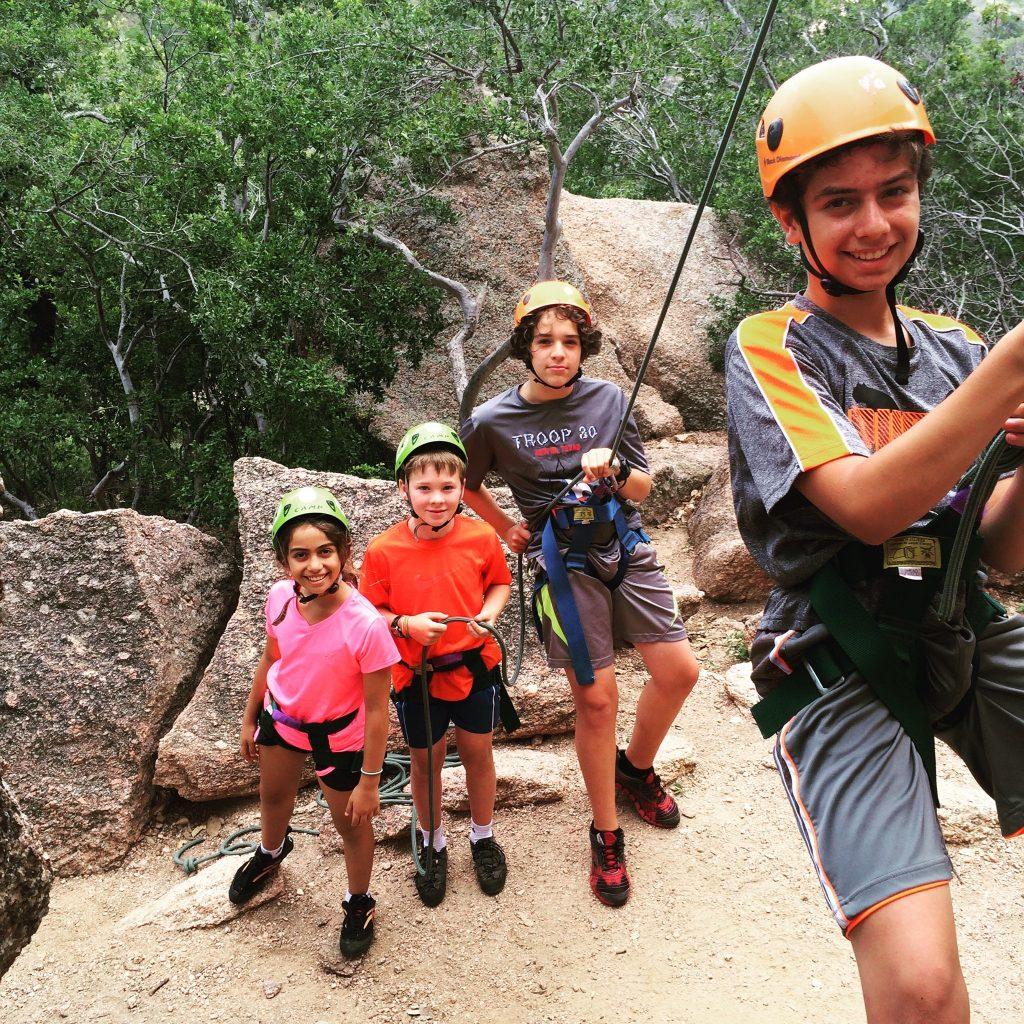 Austin rock Climbing family