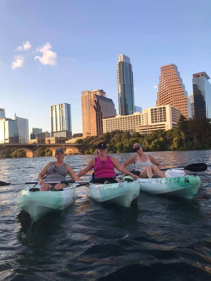 Friends Kayaking