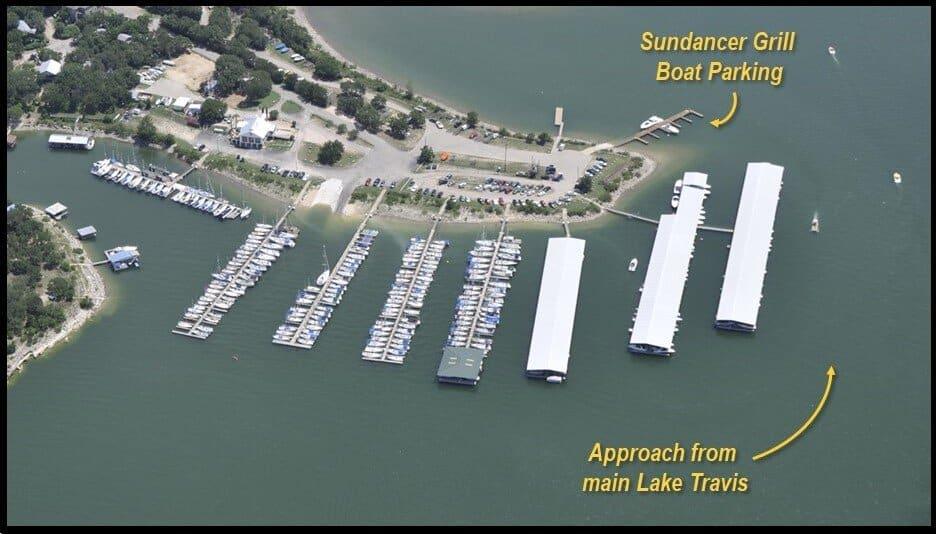 Sundancer Grill Boat Parking Map