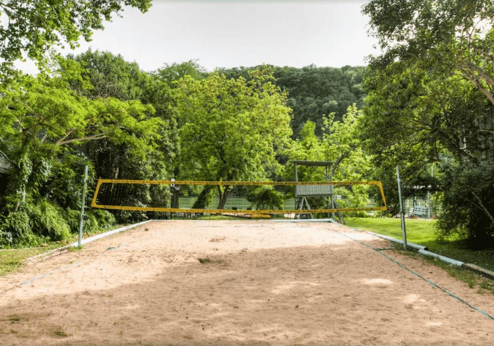 Lake Austin Paradise Volleyball Court