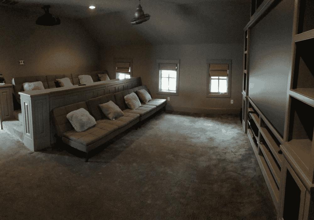 Lake Austin Retreat Movie Room