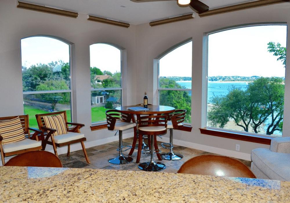 Lake Travis Dinning Room Views