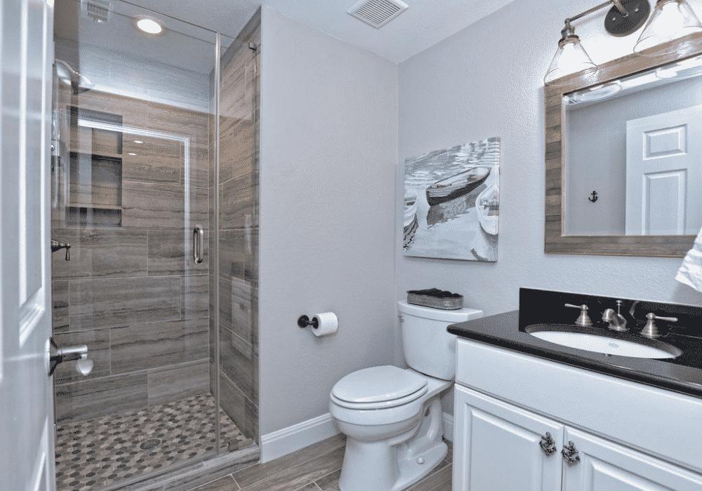 Nautical Lake Retreat Second Bathroom