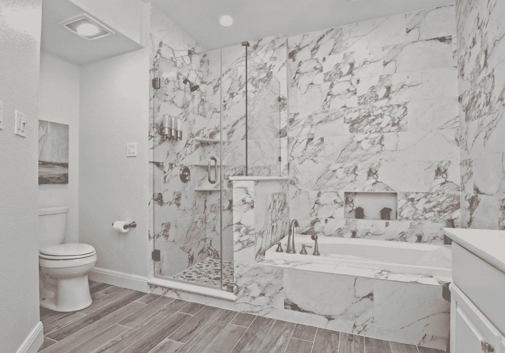 Nautical Lake Retreat Master Bathroom
