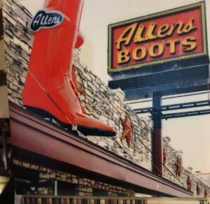 allens boots billboard